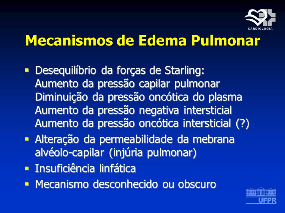 Mecanismos de Edema Pulmonar