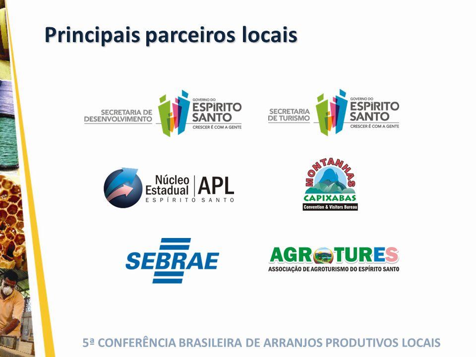 Principais parceiros locais