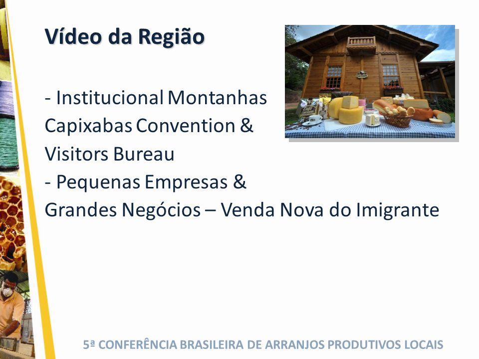 Vídeo da Região Institucional Montanhas Capixabas Convention &
