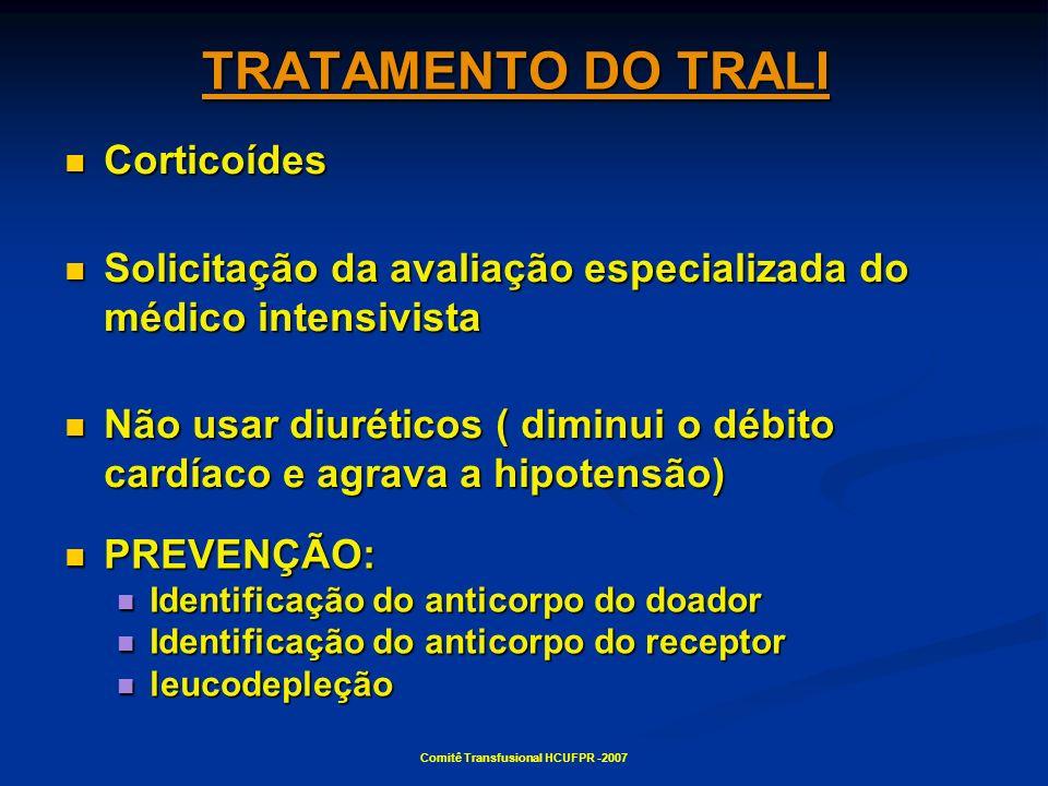 Comitê Transfusional HCUFPR -2007