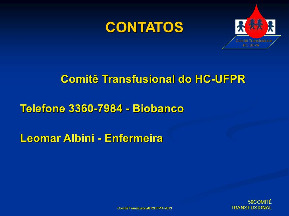 Comitê Transfusional do HC-UFPR