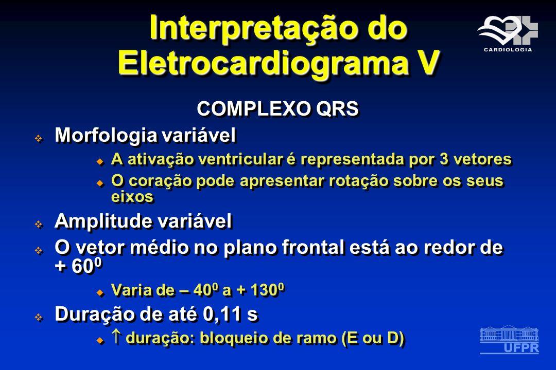 Interpretação do Eletrocardiograma V