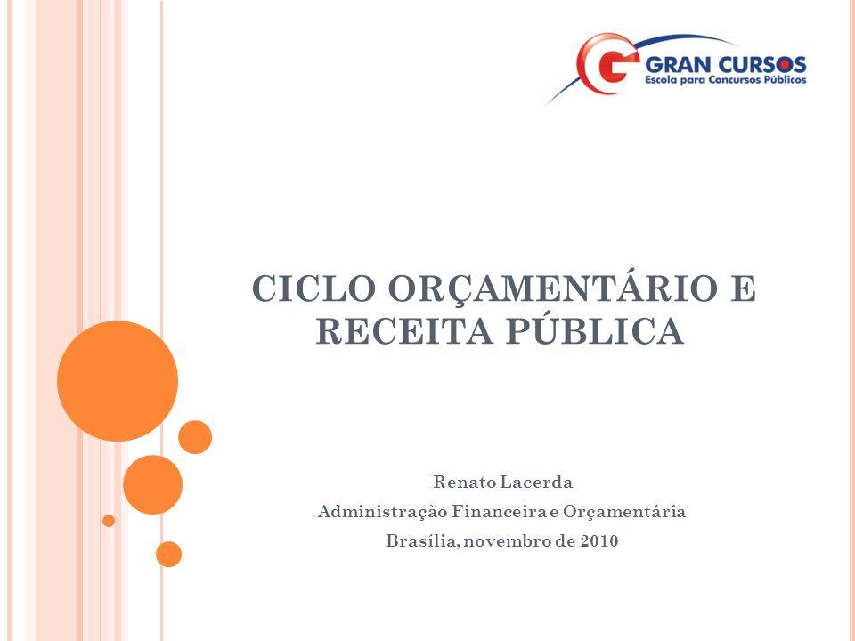 CICLO ORÇAMENTÁRIO E RECEITA PÚBLICA