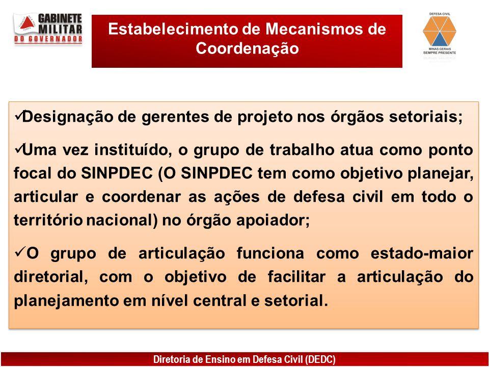 Estabelecimento de Mecanismos de Coordenação