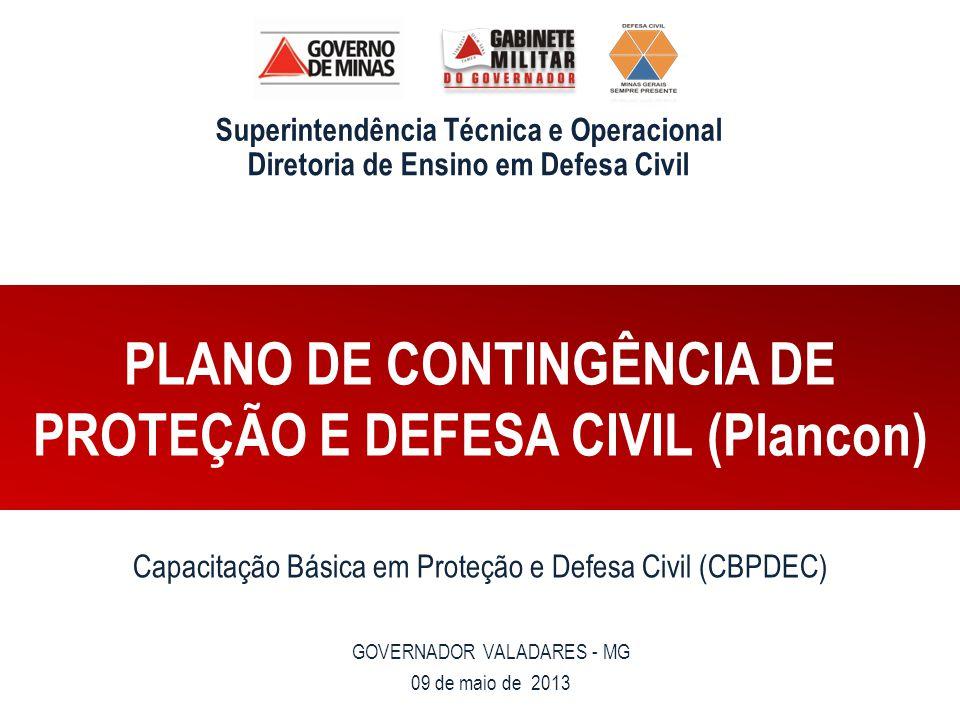 PLANO DE CONTINGÊNCIA DE PROTEÇÃO E DEFESA CIVIL (Plancon)