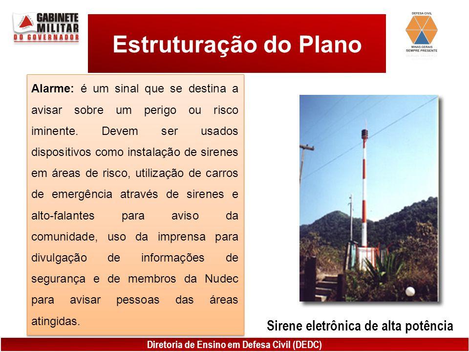 Estruturação do Plano Sirene eletrônica de alta potência