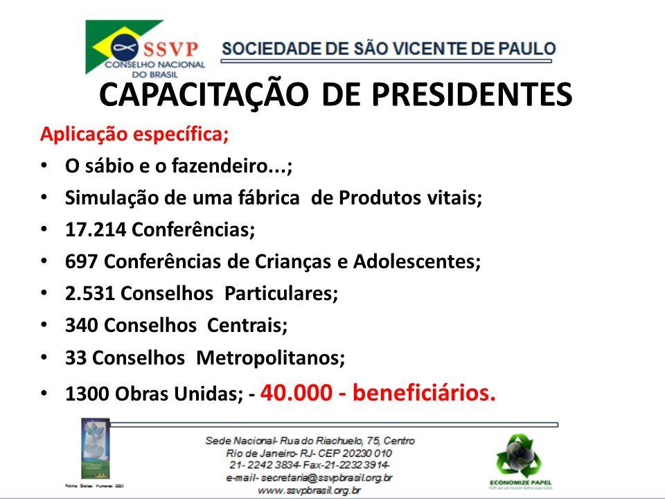 CAPACITAÇÃO DE PRESIDENTES
