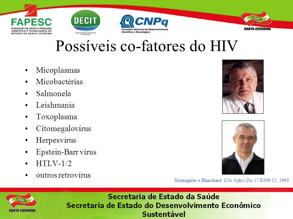 Possíveis co-fatores do HIV