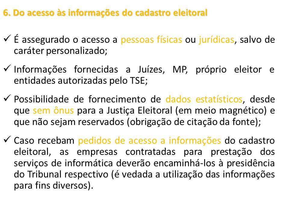 6. Do acesso às informações do cadastro eleitoral