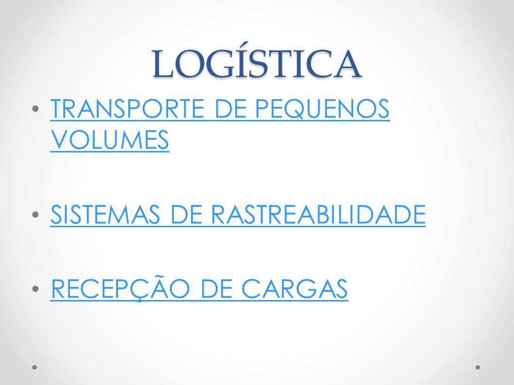 LOGÍSTICA TRANSPORTE DE PEQUENOS VOLUMES SISTEMAS DE RASTREABILIDADE