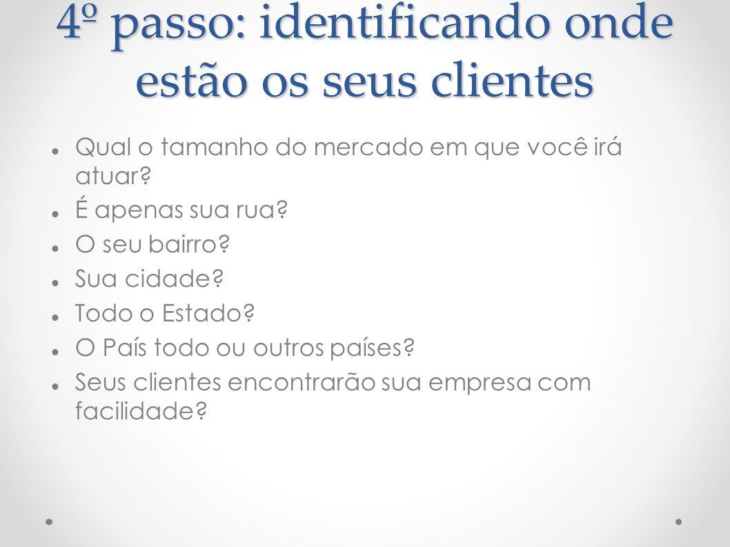 4º passo: identificando onde estão os seus clientes