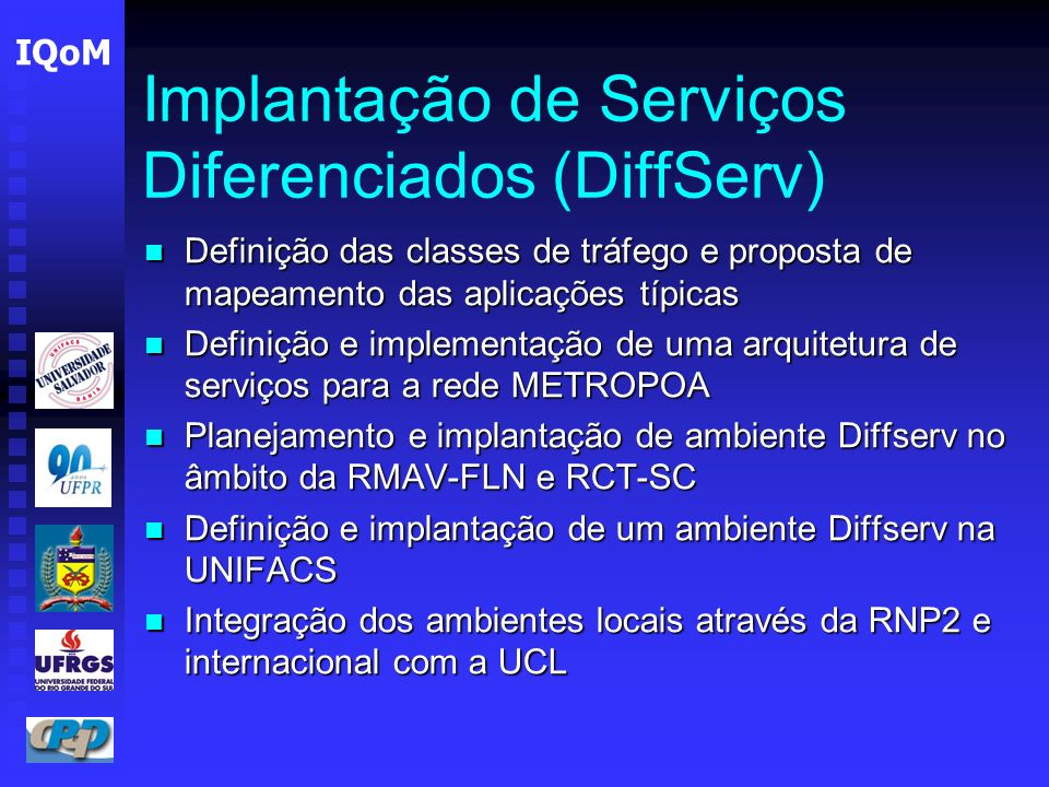 Implantação de Serviços Diferenciados (DiffServ)