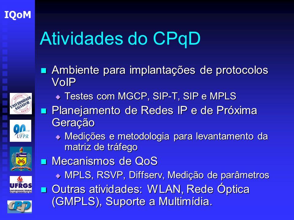 Atividades do CPqD Ambiente para implantações de protocolos VoIP