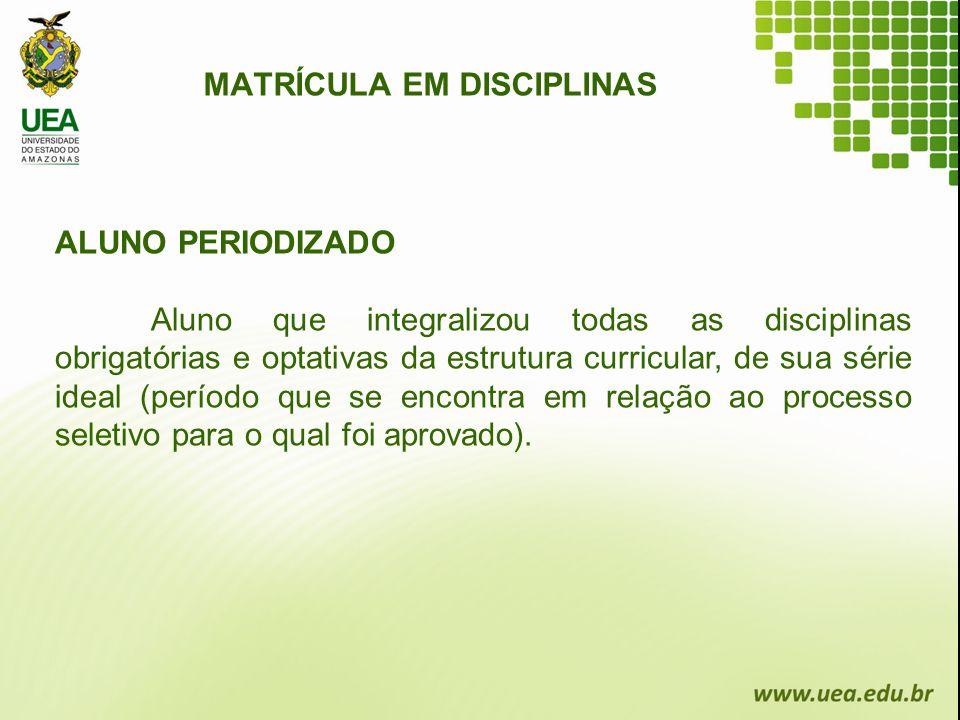 MATRÍCULA EM DISCIPLINAS