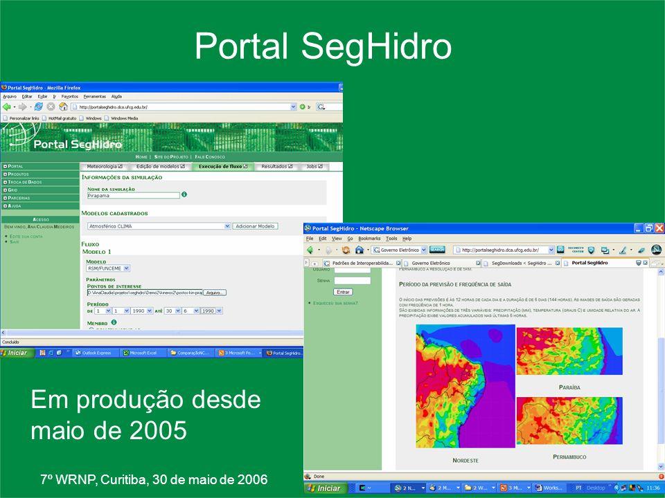 Portal SegHidro Em produção desde maio de 2005
