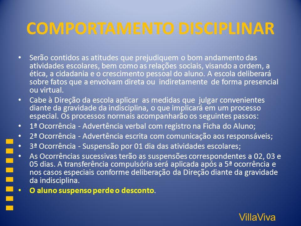 COMPORTAMENTO DISCIPLINAR