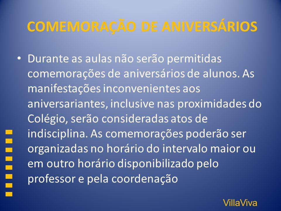 COMEMORAÇÃO DE ANIVERSÁRIOS