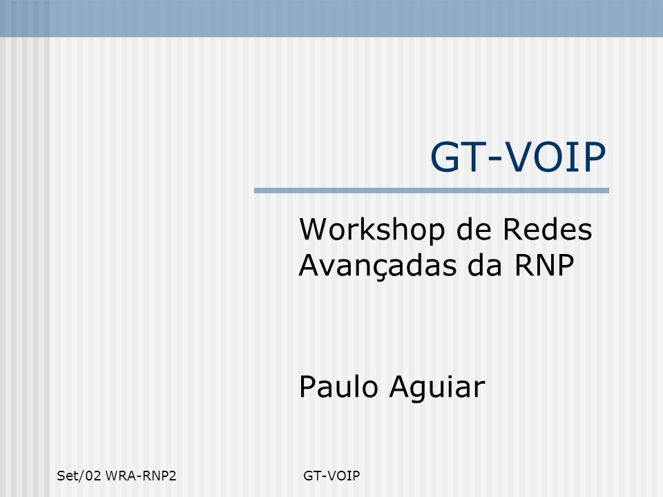 Workshop de Redes Avançadas da RNP Paulo Aguiar