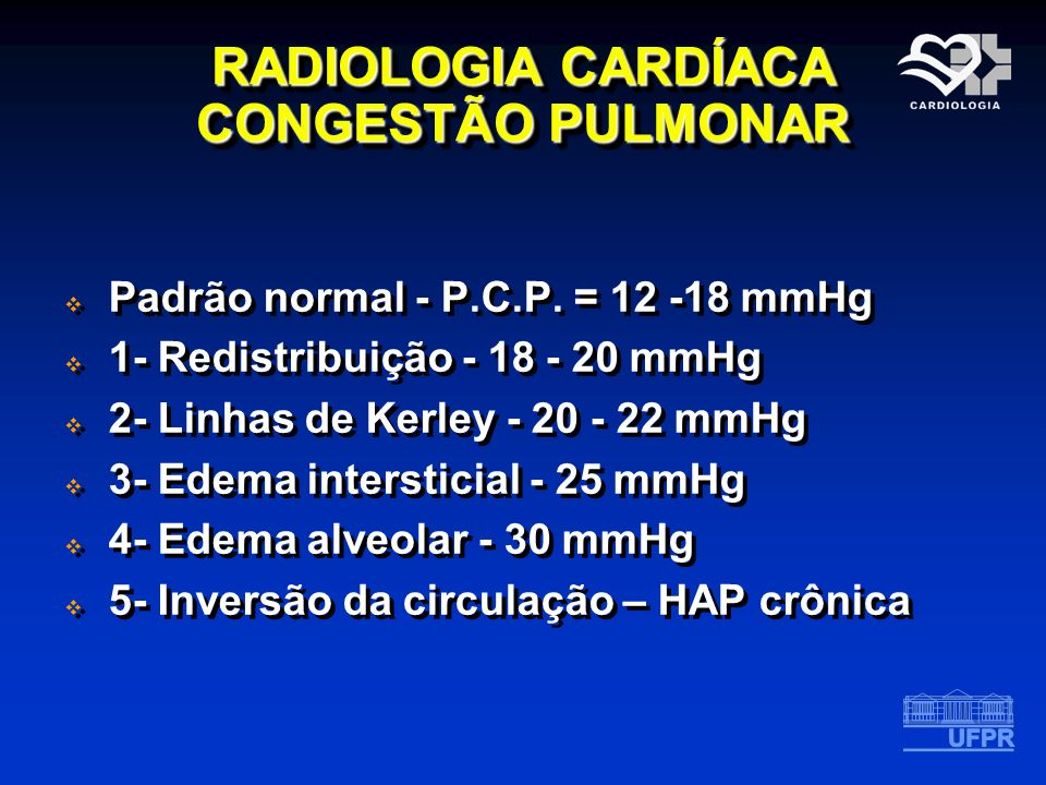 RADIOLOGIA CARDÍACA CONGESTÃO PULMONAR