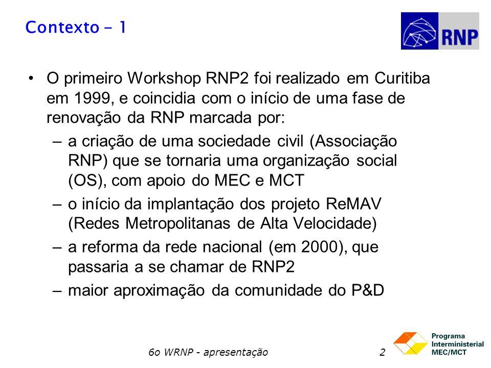 a reforma da rede nacional (em 2000), que passaria a se chamar de RNP2