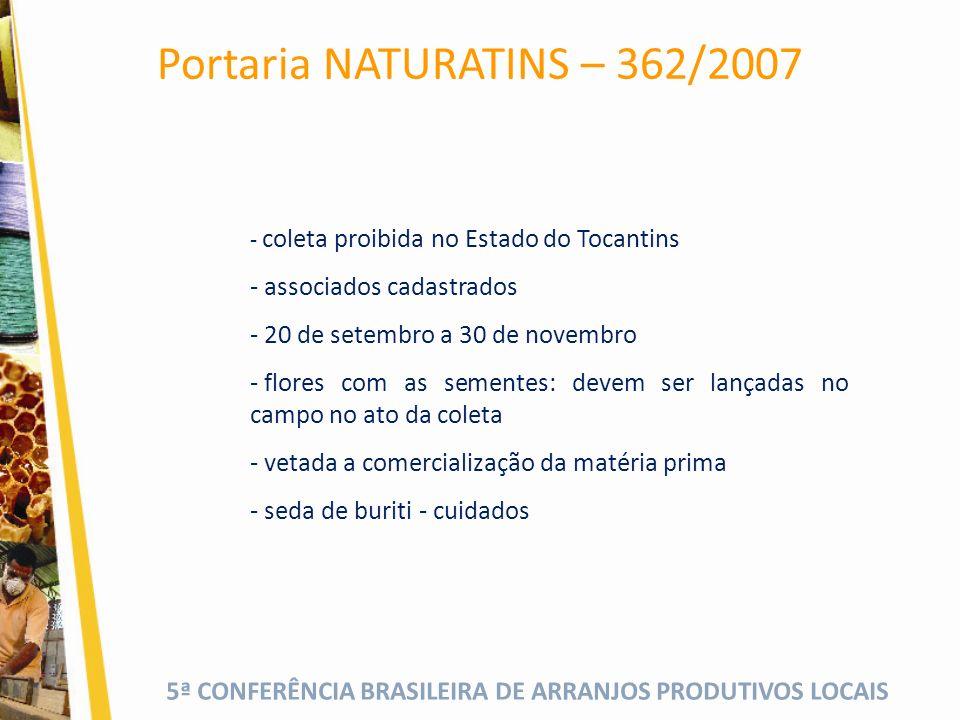 Portaria NATURATINS – 362/2007