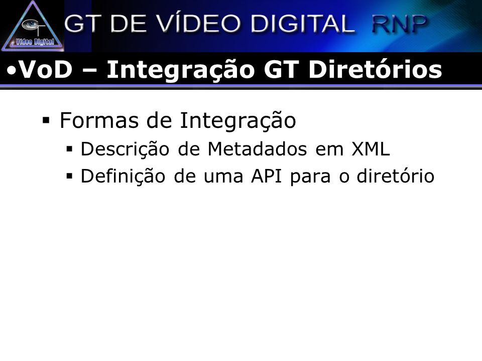 VoD – Integração GT Diretórios