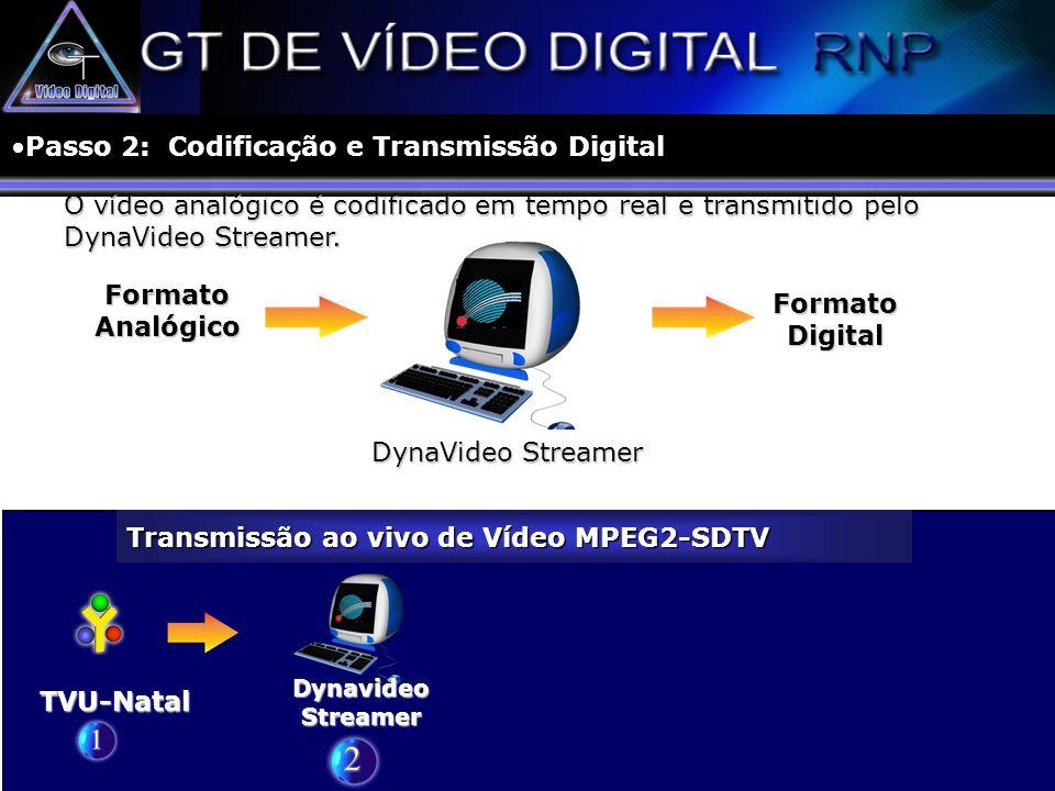 Passo 2: Codificação e Transmissão Digital