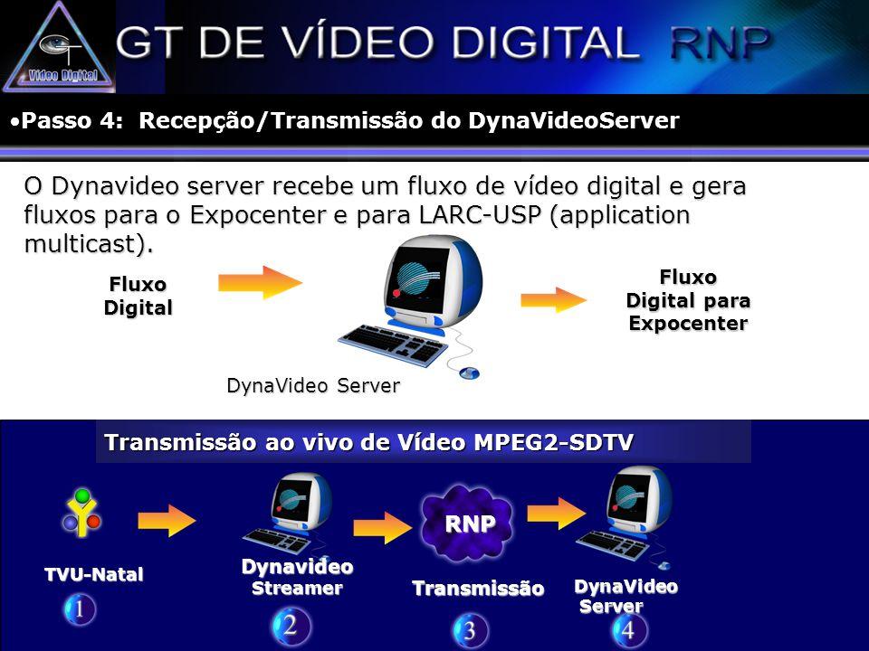 Passo 4: Recepção/Transmissão do DynaVideoServer