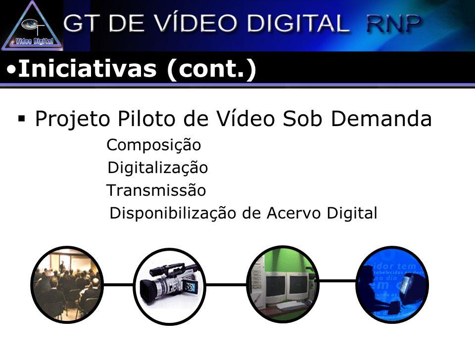 Iniciativas (cont.) Projeto Piloto de Vídeo Sob Demanda Composição