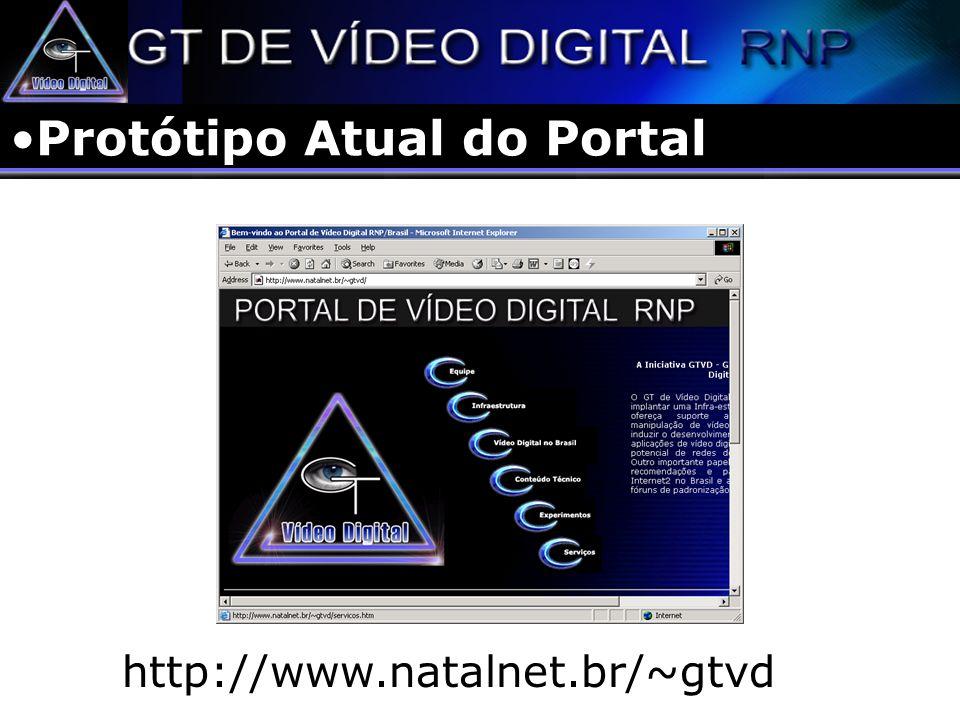 Protótipo Atual do Portal