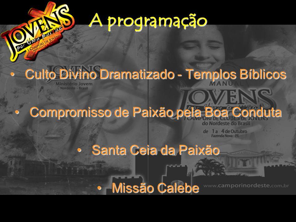 A programação Culto Divino Dramatizado - Templos Bíblicos