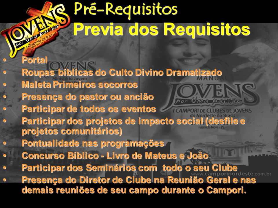Pré-Requisitos Previa dos Requisitos