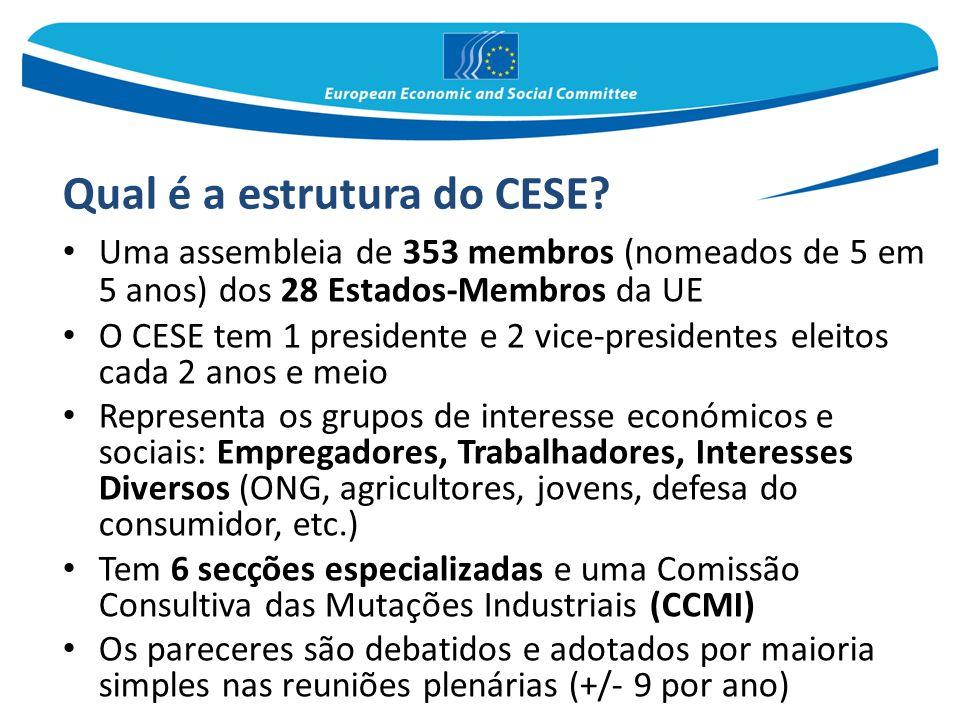 Qual é a estrutura do CESE
