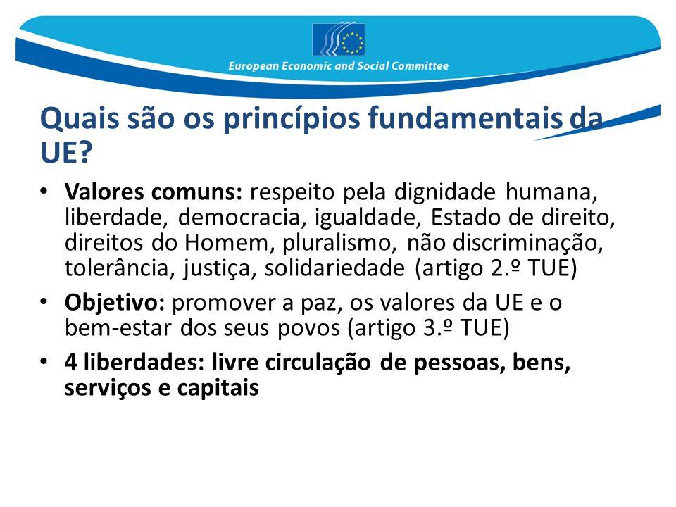 Quais são os princípios fundamentais da UE