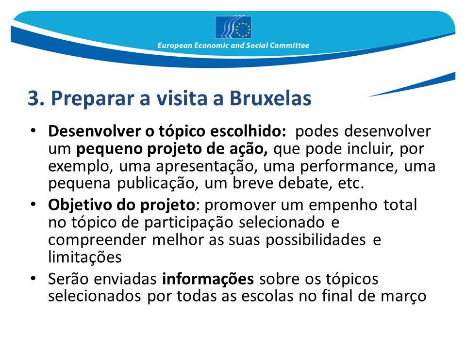 3. Preparar a visita a Bruxelas