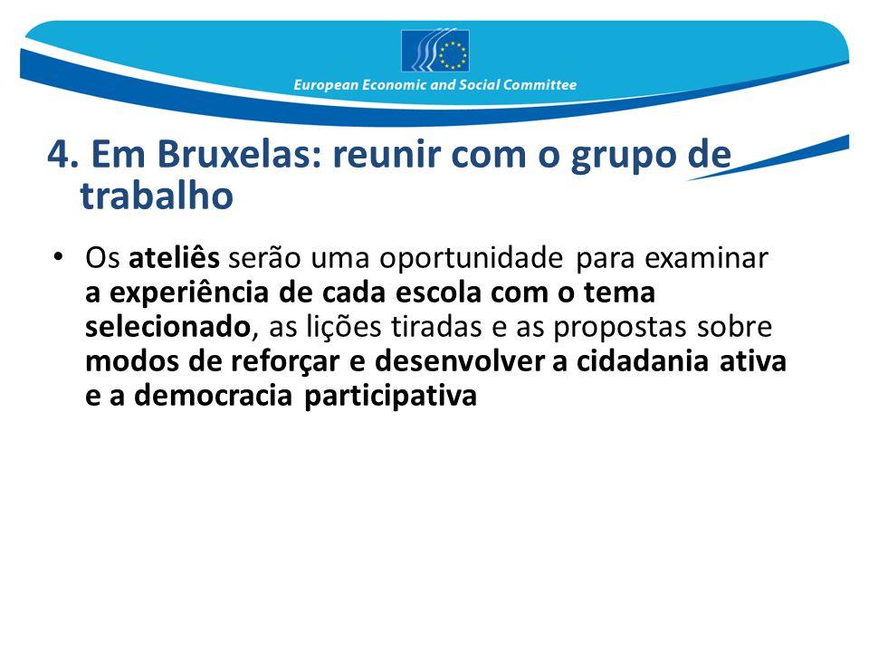 4. Em Bruxelas: reunir com o grupo de trabalho