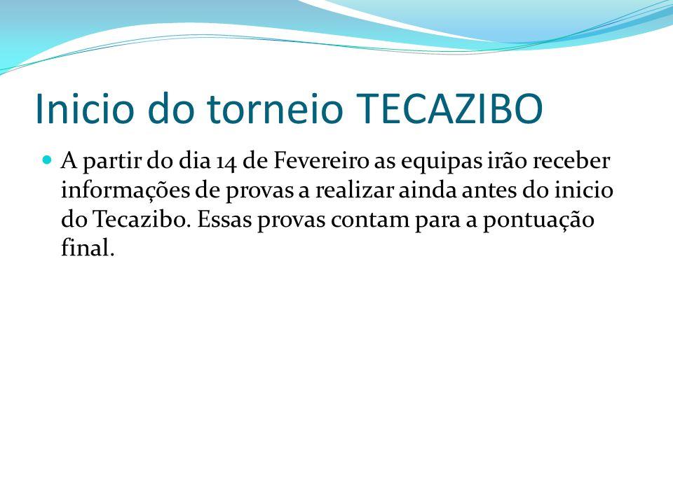 Inicio do torneio TECAZIBO