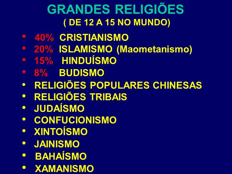GRANDES RELIGIÕES RELIGIÕES POPULARES CHINESAS BAHAÍSMO XAMANISMO