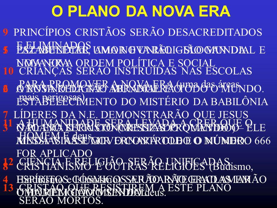 O PLANO DA NOVA ERA 9 PRINCÍPIOS CRISTÃOS SERÃO DESACREDITADOS