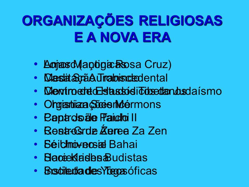 ORGANIZAÇÕES RELIGIOSAS