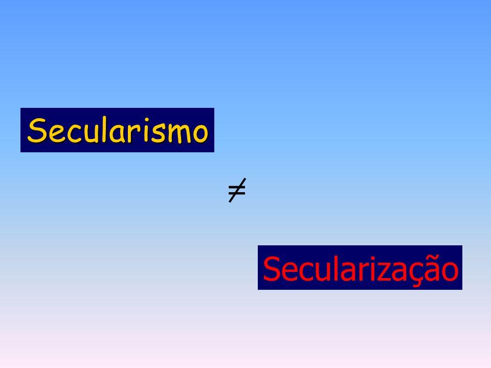 Secularismo = Secularização