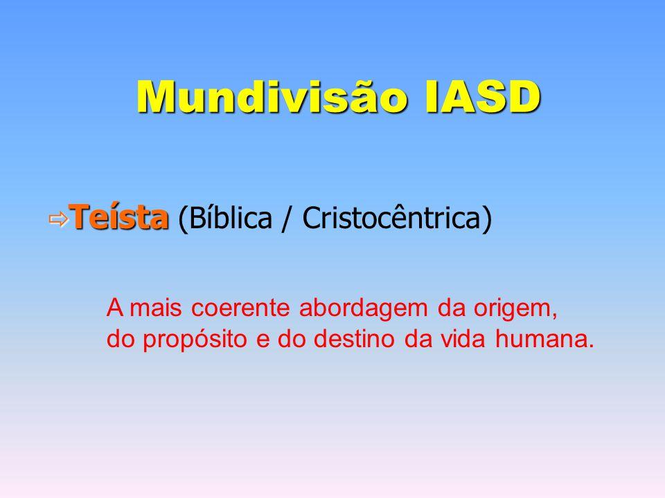 Mundivisão IASD Teísta (Bíblica / Cristocêntrica)
