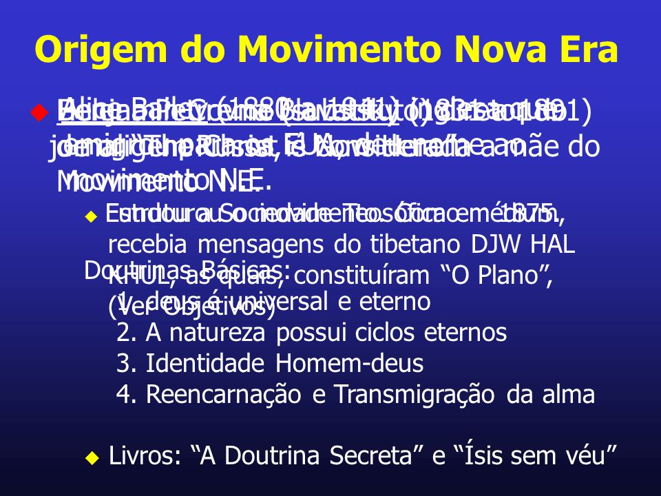 Origem do Movimento Nova Era