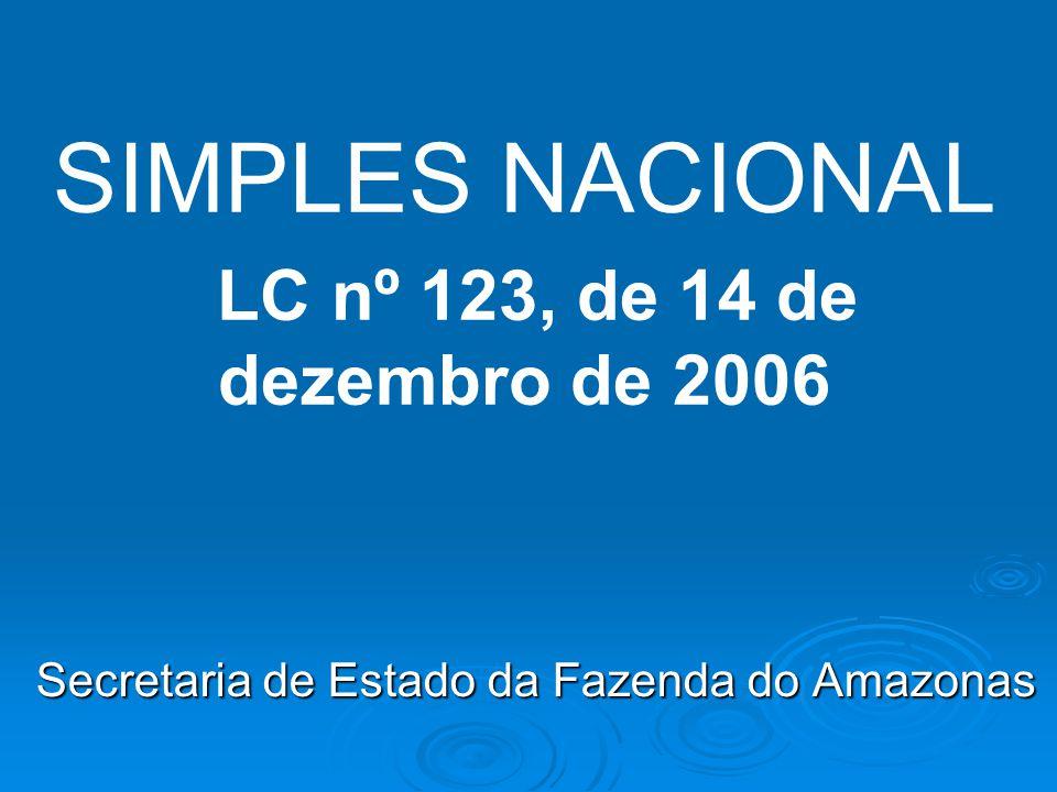 SIMPLES NACIONAL LC nº 123, de 14 de dezembro de 2006