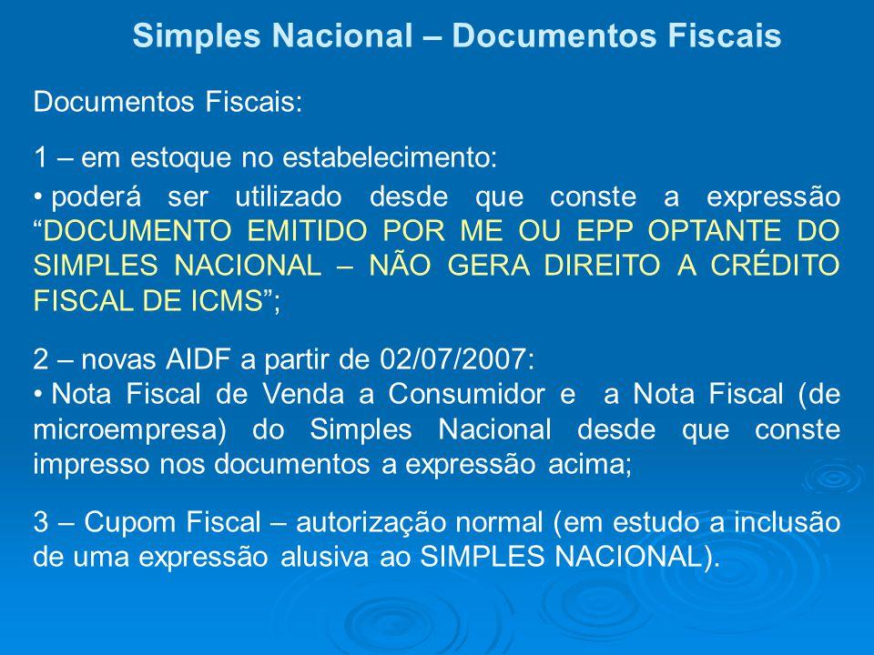 Simples Nacional – Documentos Fiscais