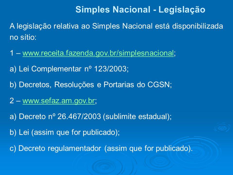Simples Nacional - Legislação