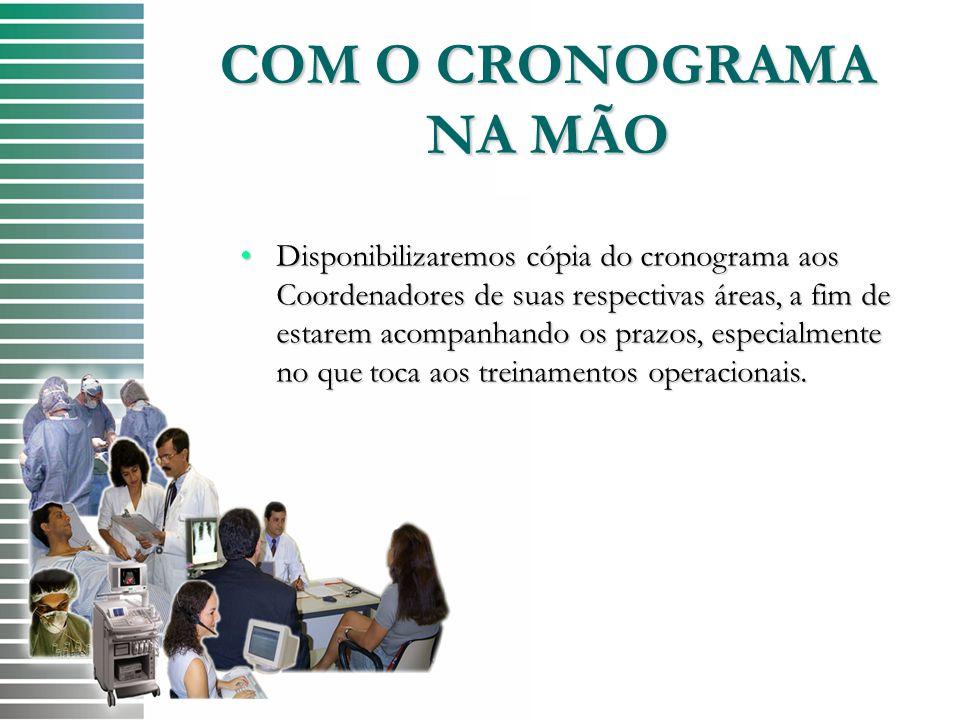 COM O CRONOGRAMA NA MÃO