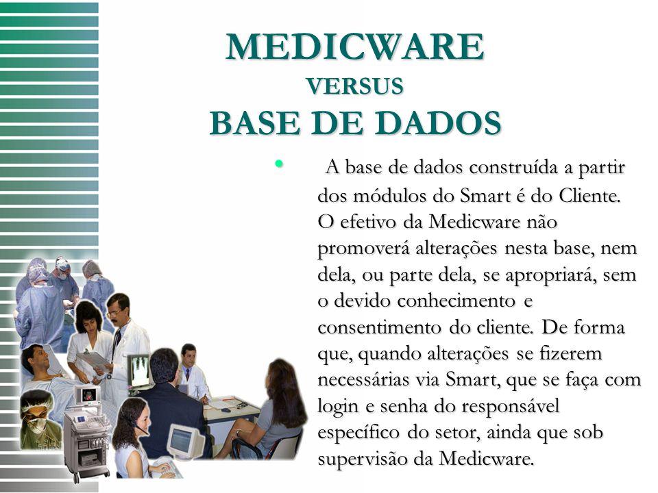 MEDICWARE VERSUS BASE DE DADOS