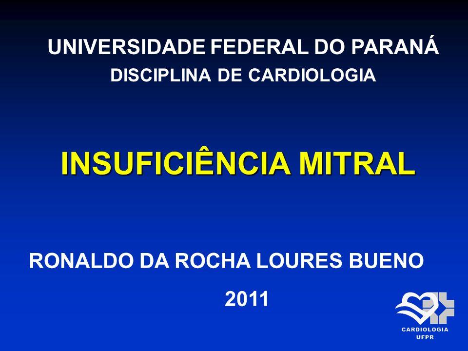 UNIVERSIDADE FEDERAL DO PARANÁ DISCIPLINA DE CARDIOLOGIA