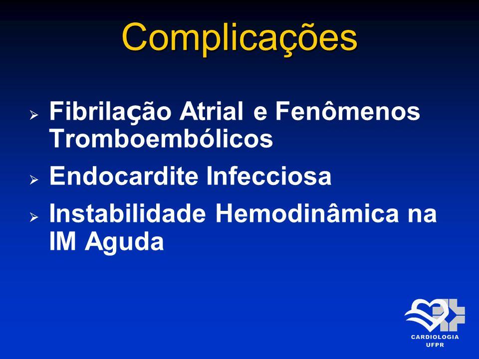 Complicações Fibrilação Atrial e Fenômenos Tromboembólicos